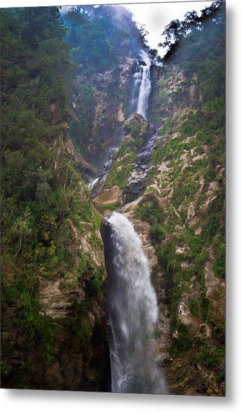 Waterfall Highlands Of Guatemala 1 Metal Print