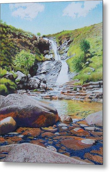 Waterfall On Skye 2 Metal Print