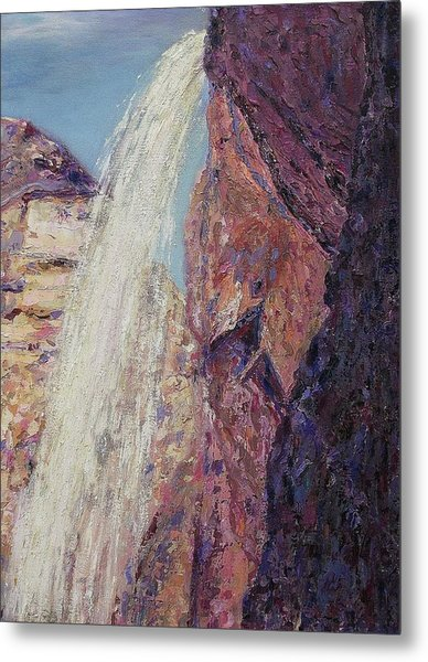 Waterfall Metal Print by Suzanne  Marie Leclair