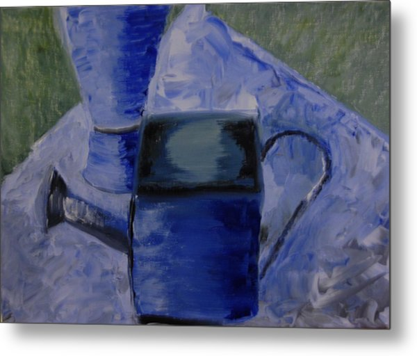 Watering Can Metal Print by Michele Edler