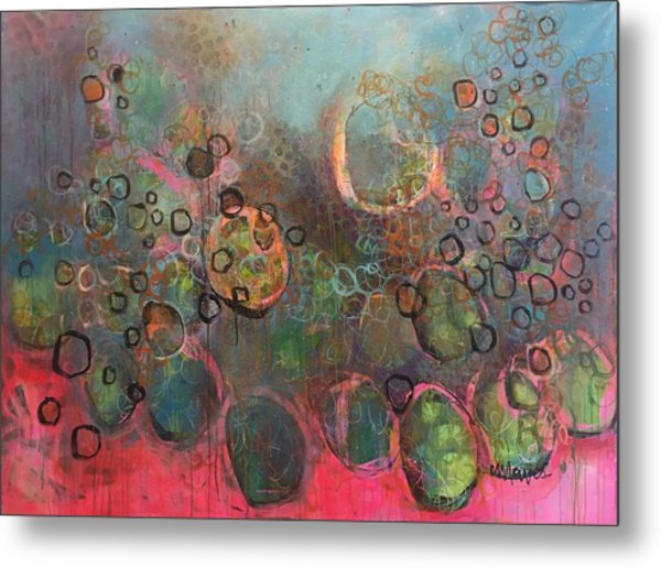 Metal Print featuring the painting We Never Finish Where We Begin by Laurie Maves ART