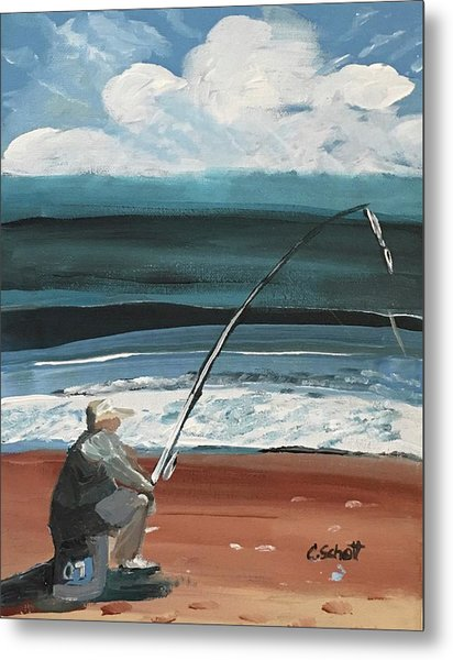 Weekend Fisherman Metal Print