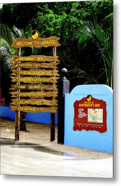 Welcome To Labadee Metal Print