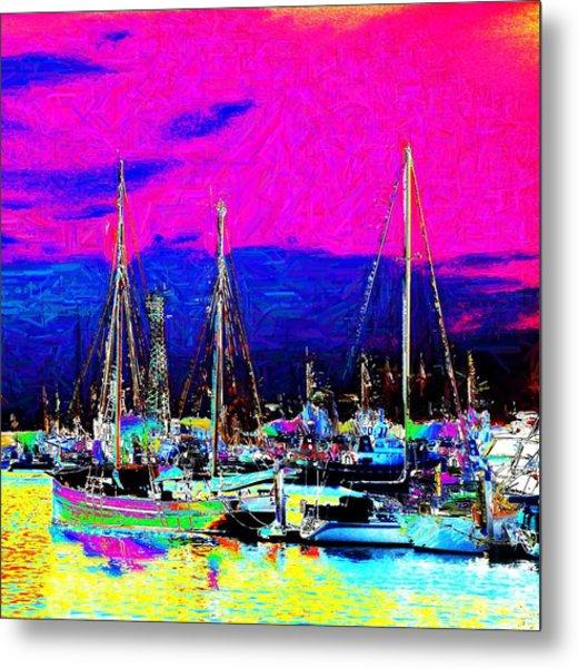 Wharf Metal Print by Howard Lancaster