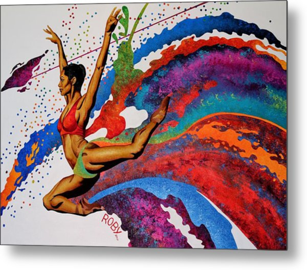 When Misty Moves Metal Print