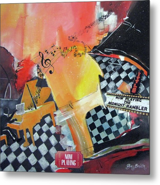Where Does The Music Go Metal Print