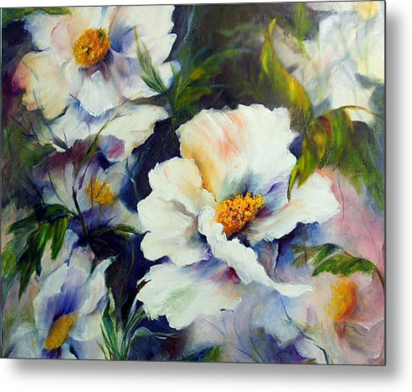 White Beauties Metal Print by Elaine Bailey