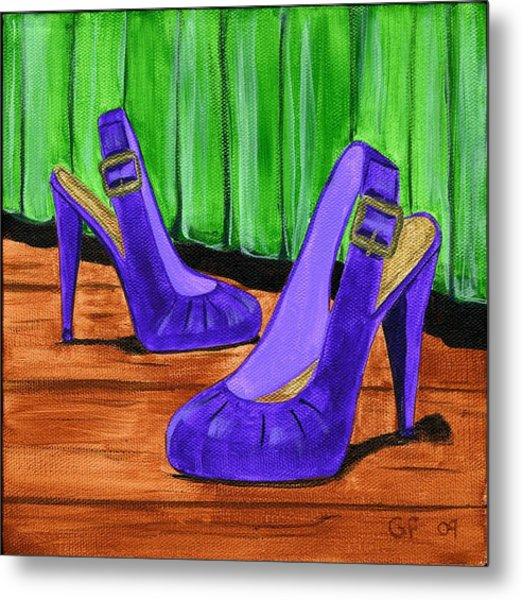 Who Wears These Shoes  Metal Print