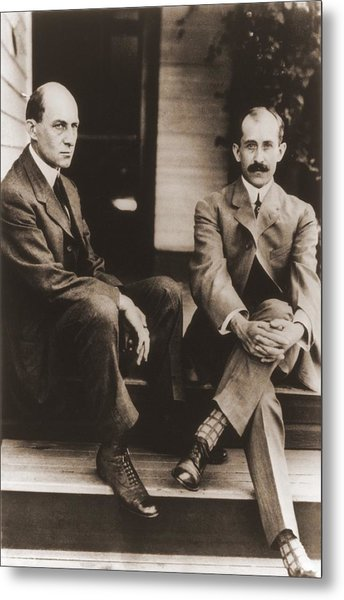Wilbur Wright And Orville Wright Metal Print