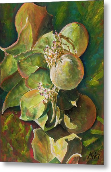 Wild Apples In Bloom Metal Print