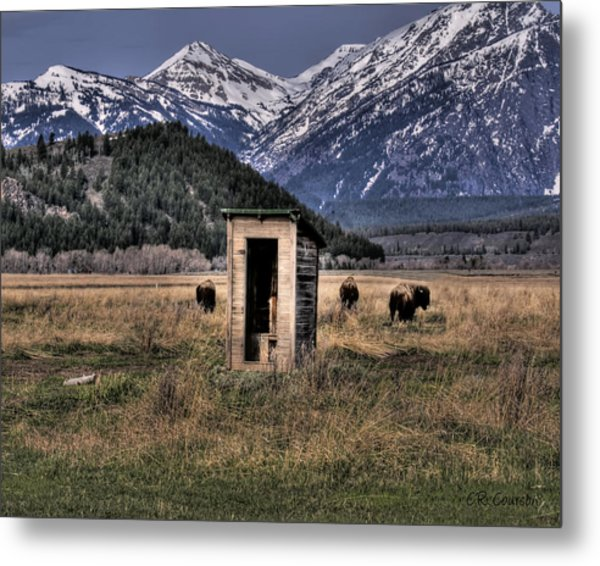 Wilderness Outhouse Metal Print