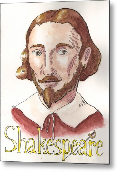 William Shakespeare Metal Print