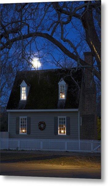 Williamsburg House In Moonlight Metal Print