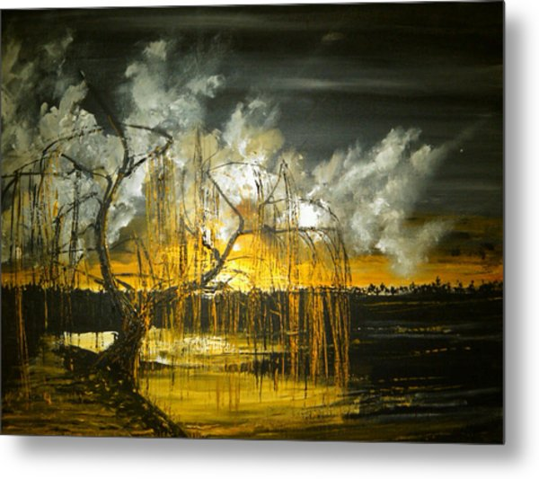 Willow On The Shore Metal Print