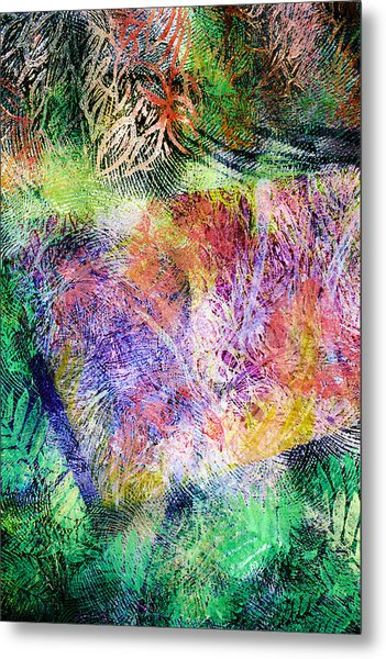 Wind In The Forest Metal Print by Sue Reed