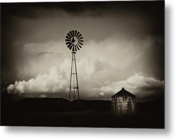 Windmill And Tank Metal Print by Gus McCrea