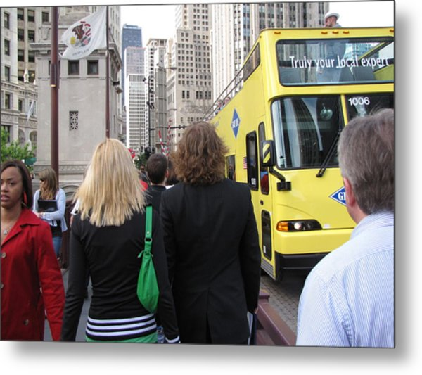 Windy City Walkabout Metal Print by Sylvia Wanty