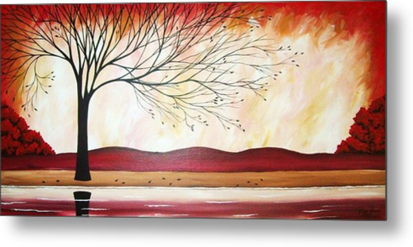 Windy Red River Metal Print by Peggy Davis