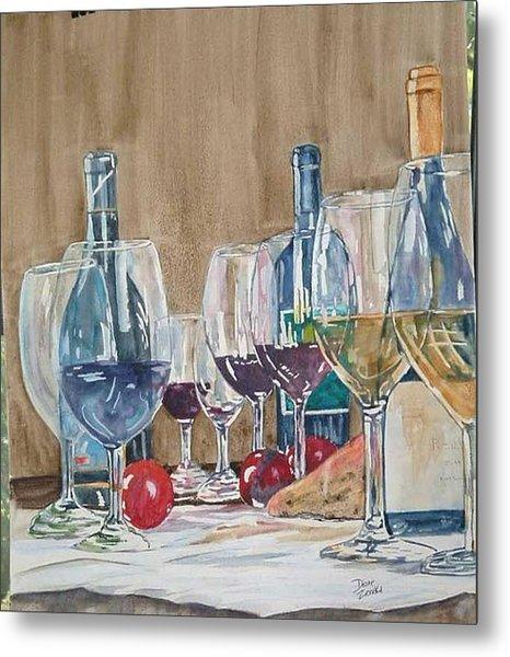 Wine 2 Metal Print