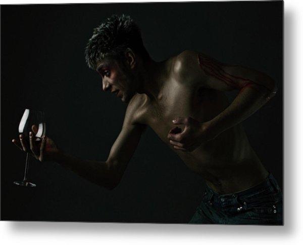 Wine And Blood Metal Print