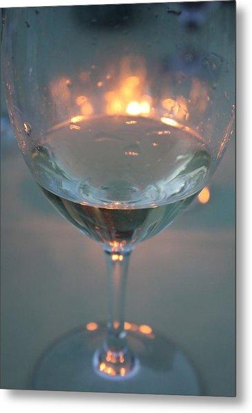 Wine And Candlelight Metal Print by Gail Salitui