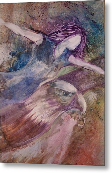 Metal Print featuring the painting Wings Like Eagles by Deborah Nell
