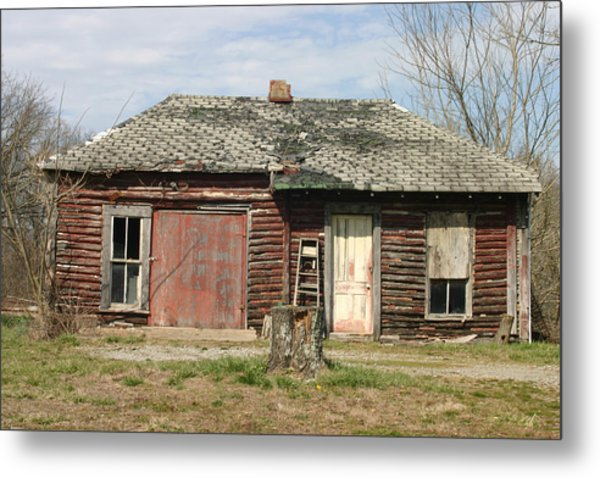Winslow Cabin Metal Print by Curtis J Neeley Jr