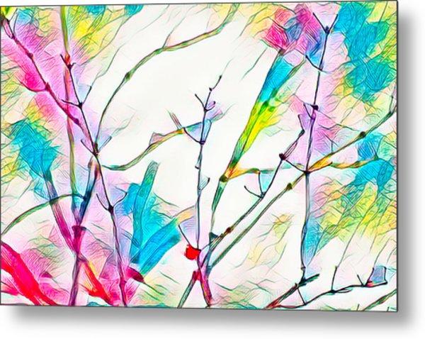 Winter Branch Colors Metal Print