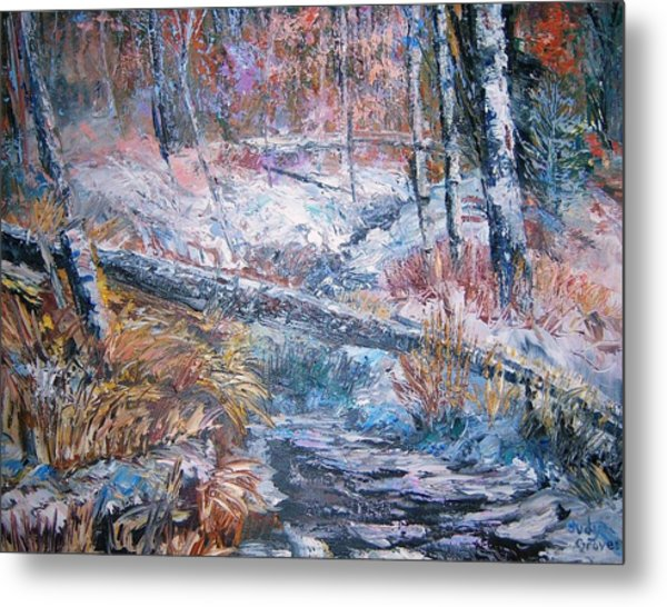 Winter Forest Metal Print by Judy Groves
