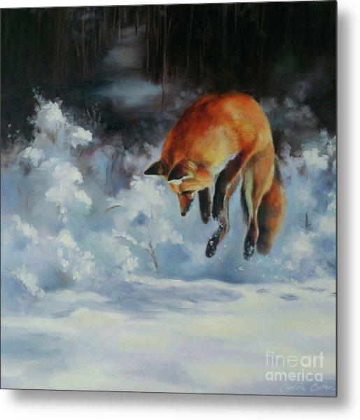 Winter Hunt Metal Print