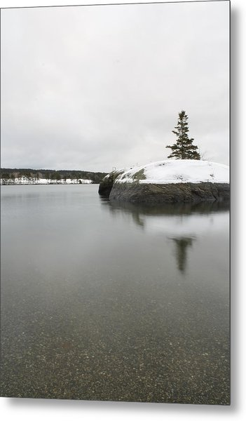Winter In Blue Hill Metal Print