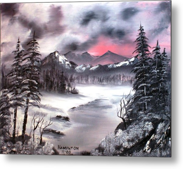 Winter In Three Colors Metal Print