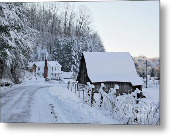 Winter In Virginia Metal Print