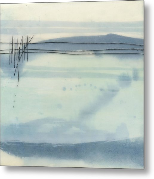 Winter Lake Metal Print by Sally  Tuttle