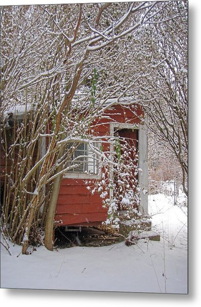Winter Reading Room Metal Print by Kristine Nora
