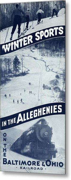 Winter Sports In The Alleghenies Metal Print