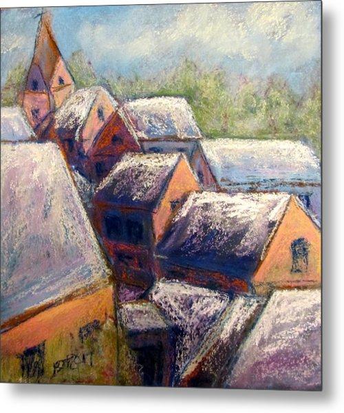 Winter Village Metal Print