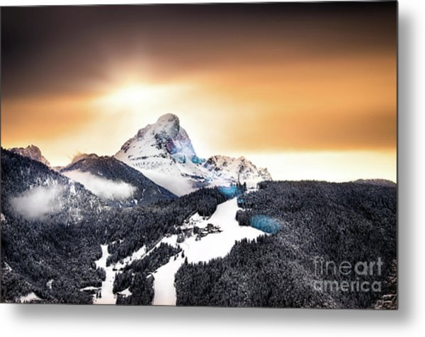 Wintry Sunset Metal Print by Alessandro Giorgi Art Photography