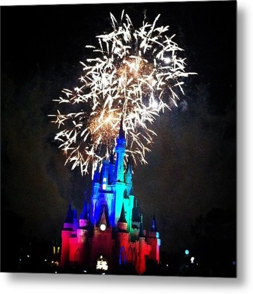 Wishes Fireworks Show Metal Print