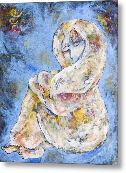 Woman Seeking Solace Metal Print by Sara Zimmerman