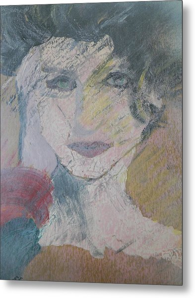 Woman's Portrait - Untitled Metal Print