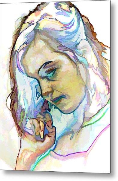 Women Body - Color Face2 Metal Print by Robert Litewka