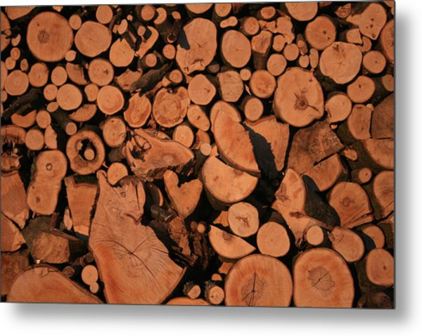 Wooden Wall Metal Print by Marta Grabska-Press