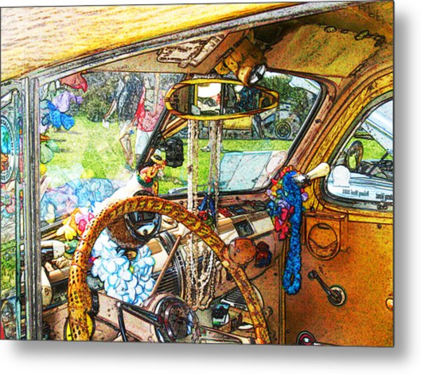 Woodie World Metal Print by Deborah Hildinger