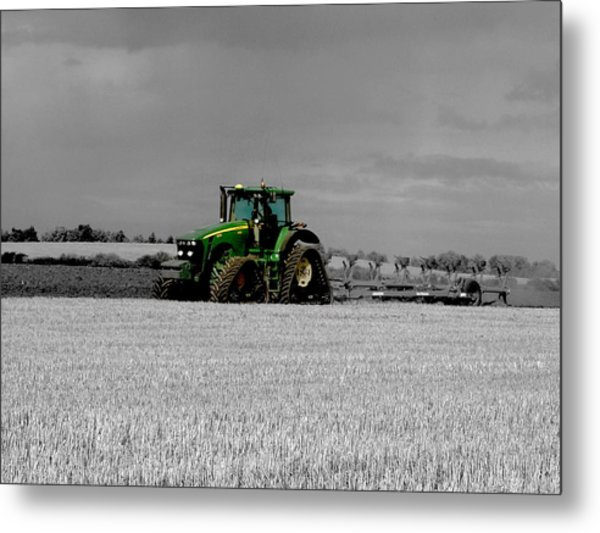 Working The Fields Metal Print
