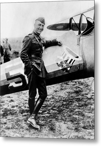 World War I Fighter Ace And Air Advisor Metal Print