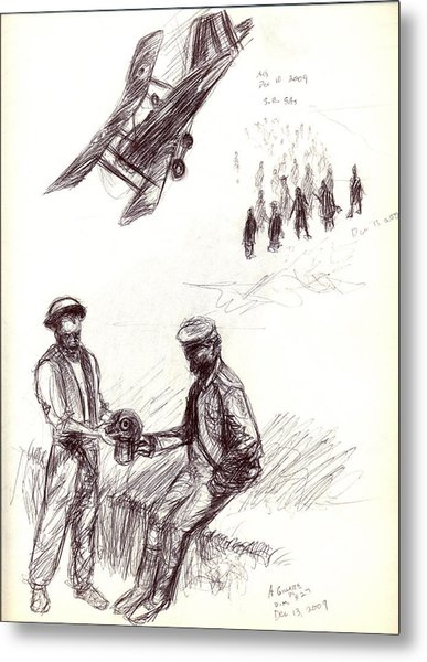 World War One Sketch No. 2 Metal Print