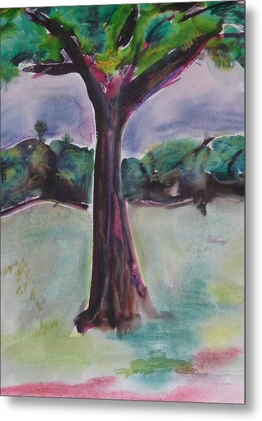 Wounded Tree Metal Print by Rima Bidkar