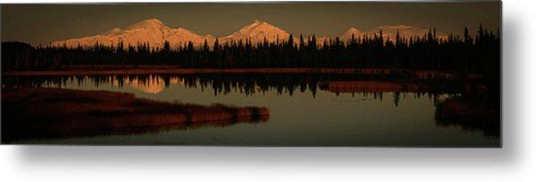 Wrangell Mountains At Sunset Metal Print