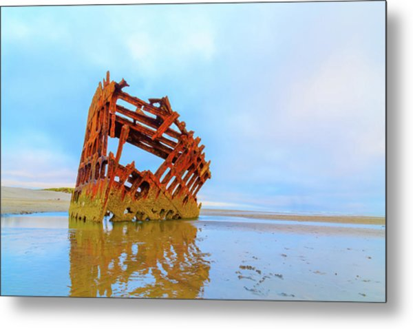 Wreck Of The Peter Iredale Metal Print
